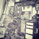 作業場の記録。#desk #deskwork (by Instagram)