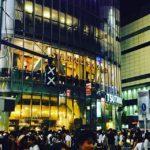 第一回渋谷盆踊り大会。夏っぽい雰囲気の写真もいいけど、信号機がなんとなく可愛くてつい。 (by Instagram)