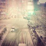 都内大雪。東京大混乱。社会人にとっては白い地獄。 (by Instagram)